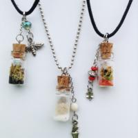 glass jar necklaces