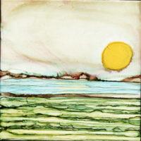 large sun egg landscape