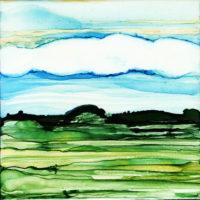 blue stripe sky landscape