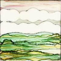 hilly grass landscape