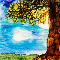 powerful tree landscape_sold