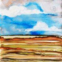 cloudy sky and hills landscape_sold