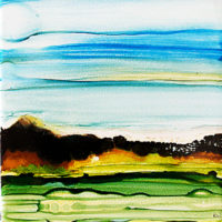 calm sky something brewing landscape_sold