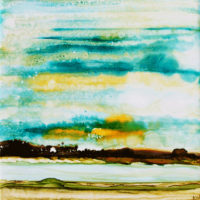 yellow sky landscape_sold