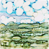 bubbles in the sky landscape_sold