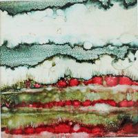 red field landscape