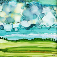cloudy day landscape