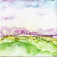 purple splatter sky landscape